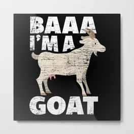 Goat Costume Metal Print