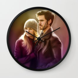 The Captain and The Savior Wall Clock