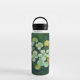 Tranquil lily pond Water Bottle
