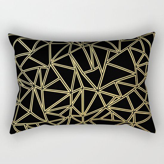 Abstract Blocks Gold Rectangular Pillow