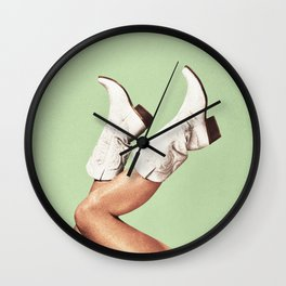These Boots - Green Wall Clock