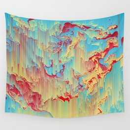 Vivid Storm - An Abstract Glitch Piece Wall Tapestry