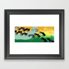 The Great Wildebeest Migration Framed Art Print