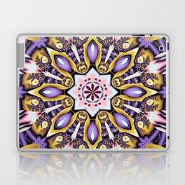 Kaleidoscope in purple, pink, gold and blue Laptop & iPad Skin