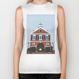 Philadelphia, Pennsylvania Travel Poster Biker Tank