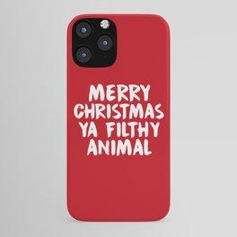 Merry Christmas Ya Filthy Animal, Funny, Saying iPhone Case