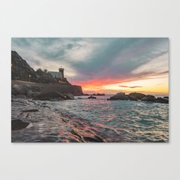 Orographic waves at sunset Canvas Print