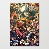 flcl Canvas Prints featuring FLCL - Phallic Symbol by DA Productions