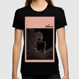 waves of Venus in pink T-shirt