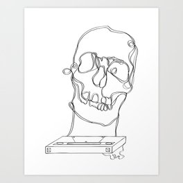 Skeleton Boy Art Print