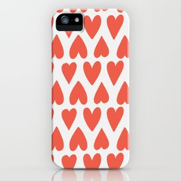 Shapes Nr. 4 - Red Hearts iPhone Case