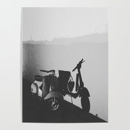 Bike with silhouette Poster