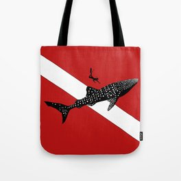 DIVER DOWN - whale shark dive Tote Bag