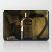 whisky iPad Cases featuring Ballantines Finest Scotch Whisky by AliceArtDotCom