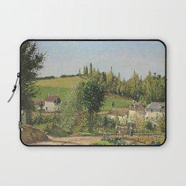 """Camille Pissarro """"Hameau aux environs de Pontoise"""" (1872) Laptop Sleeve"""