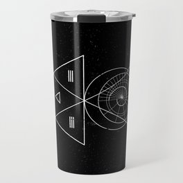 Espiral Triangle Black Travel Mug