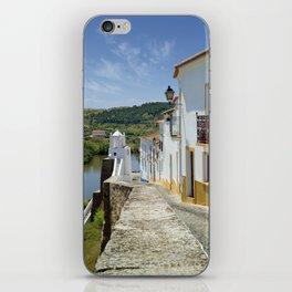 Narrow cobbled street in the Alentejo, Portugal iPhone Skin
