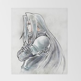 Sephiroth Artwork Final Fantasy VII Throw Blanket