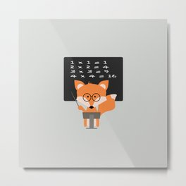 Teacher Fox Metal Print