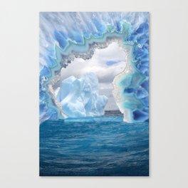 Glacier Slice Canvas Print