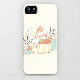 Bunny In Tutu: frozen yoghurt iPhone Case