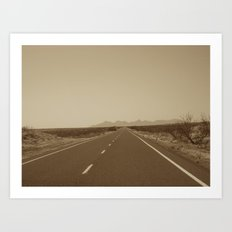 the road to Marfa Art Print