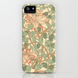 William Morris Honeysuckle iPhone Case