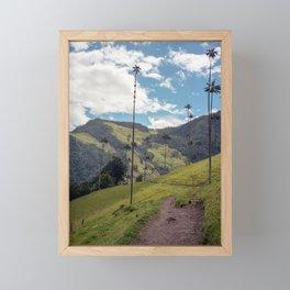Wax Palms of Cocora Valley on film Framed Mini Art Print