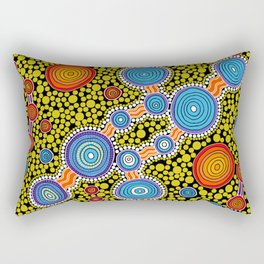 Authentic Aboriginal Art - The Journey Rectangular Pillow