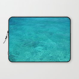 Clear Turquoise Water Laptop Sleeve