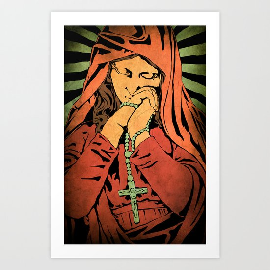 Virgin Mary (In color) Art Print