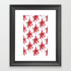 Amaryllis pattern Framed Art Print