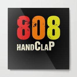 808 Vintage Drum Machine Handclap Retro Metal Print