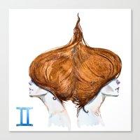 gemini Canvas Prints featuring Gemini by Aloke Design
