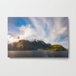 Glorious Light early in the Morning on Lake Manapouri Metal Print