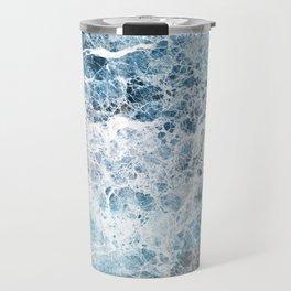 Sea foam blue marble Travel Mug