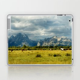 Horses and the Grand Teton Laptop & iPad Skin