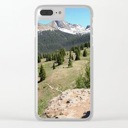 Surveying the Grandeur from Molas Pass, at 10,910 feet Clear iPhone Case