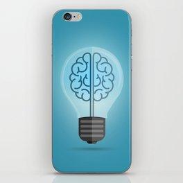 Bulb Brain Blue iPhone Skin