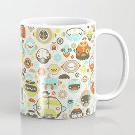 Mustache Robots Coffee Mug