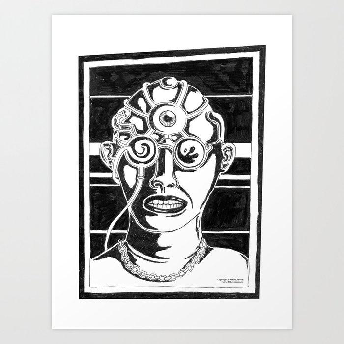 mr k mugshot art print by murderama society6