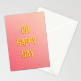 OH HAPPY DAY No.1 Stationery Cards