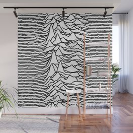 Joy Division - Unknown Pleasures [Black Lines LP] Wall Mural