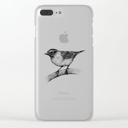 Chipping Sparrow Clear iPhone Case