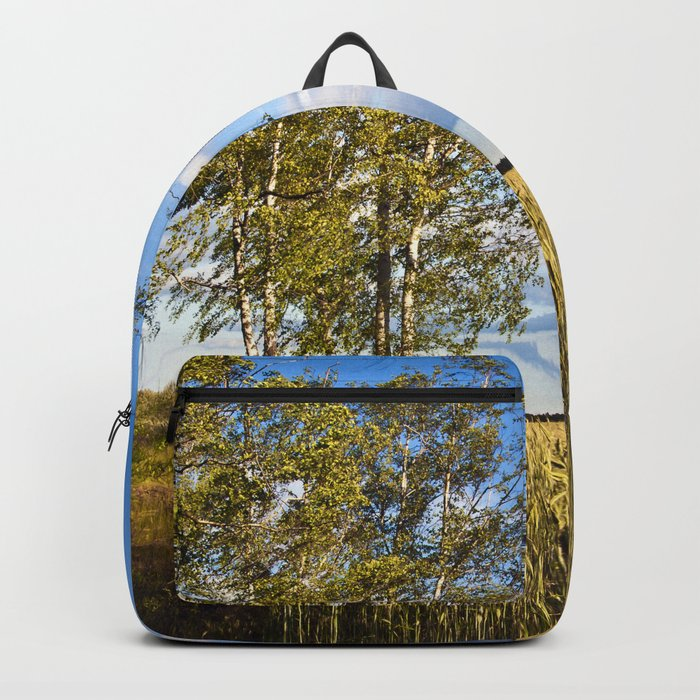 Corn Field with Birch Trees Backpack