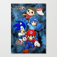 super smash bros Canvas Prints featuring Super Smash Bros  by Blaze-chan
