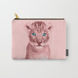 Pink Lion Cub Photography - Animal Art Carry-All Pouch