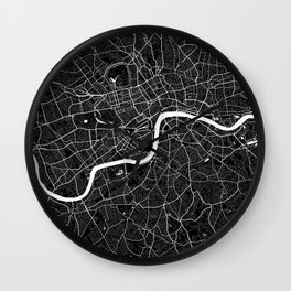 London - Minimalist City Map Wall Clock