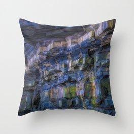 Rainbow in the Rocks Throw Pillow
