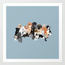 Animal Gang Art Print